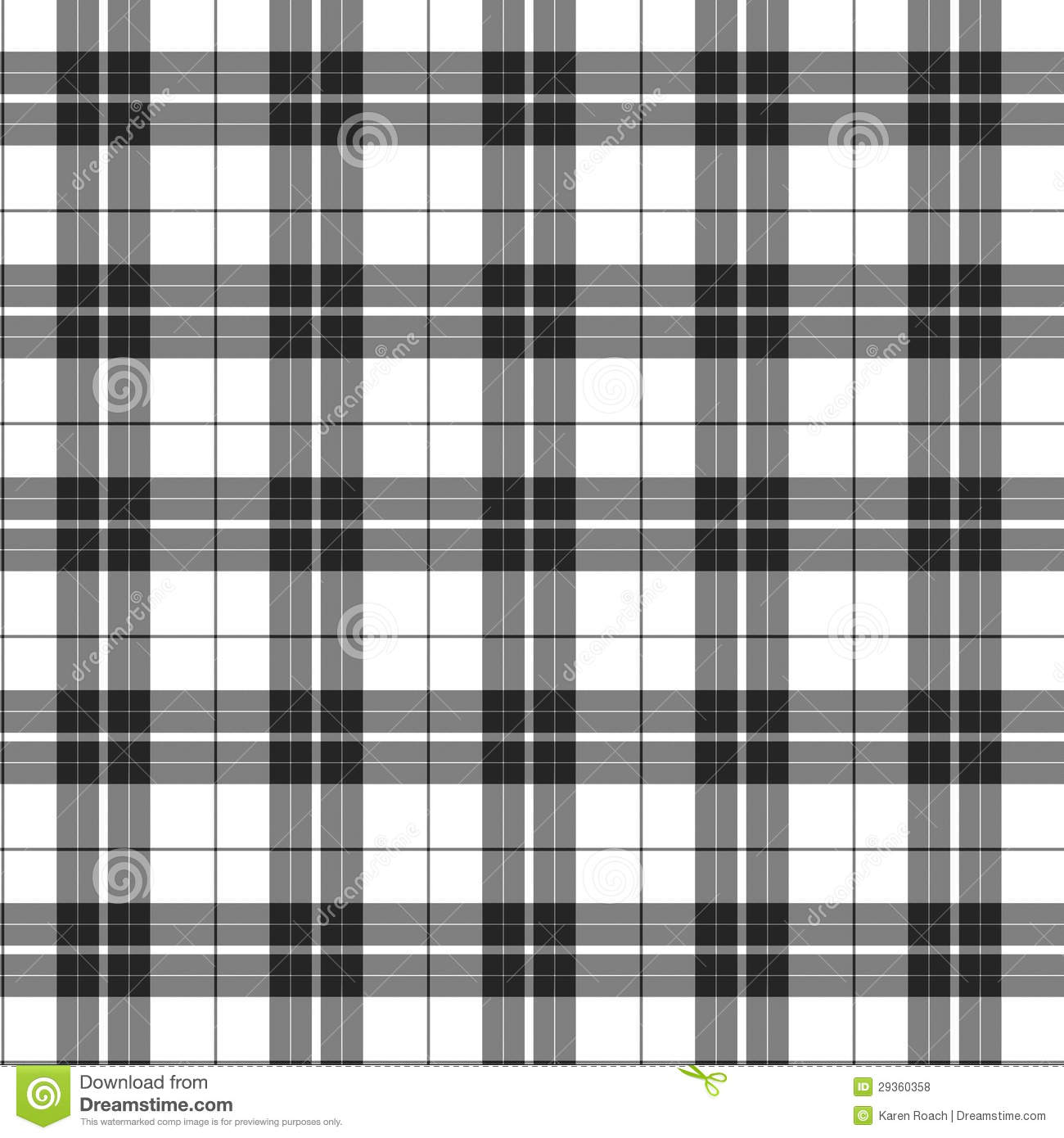 White And Black Plaid Fabric Background Stock Illustration