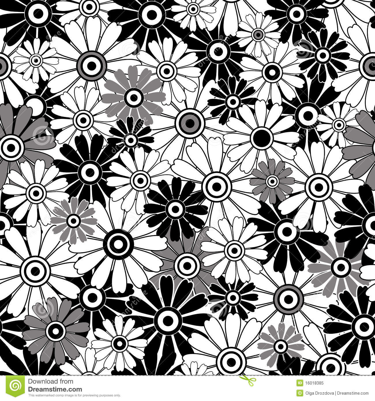 Flower Patterns Black And White