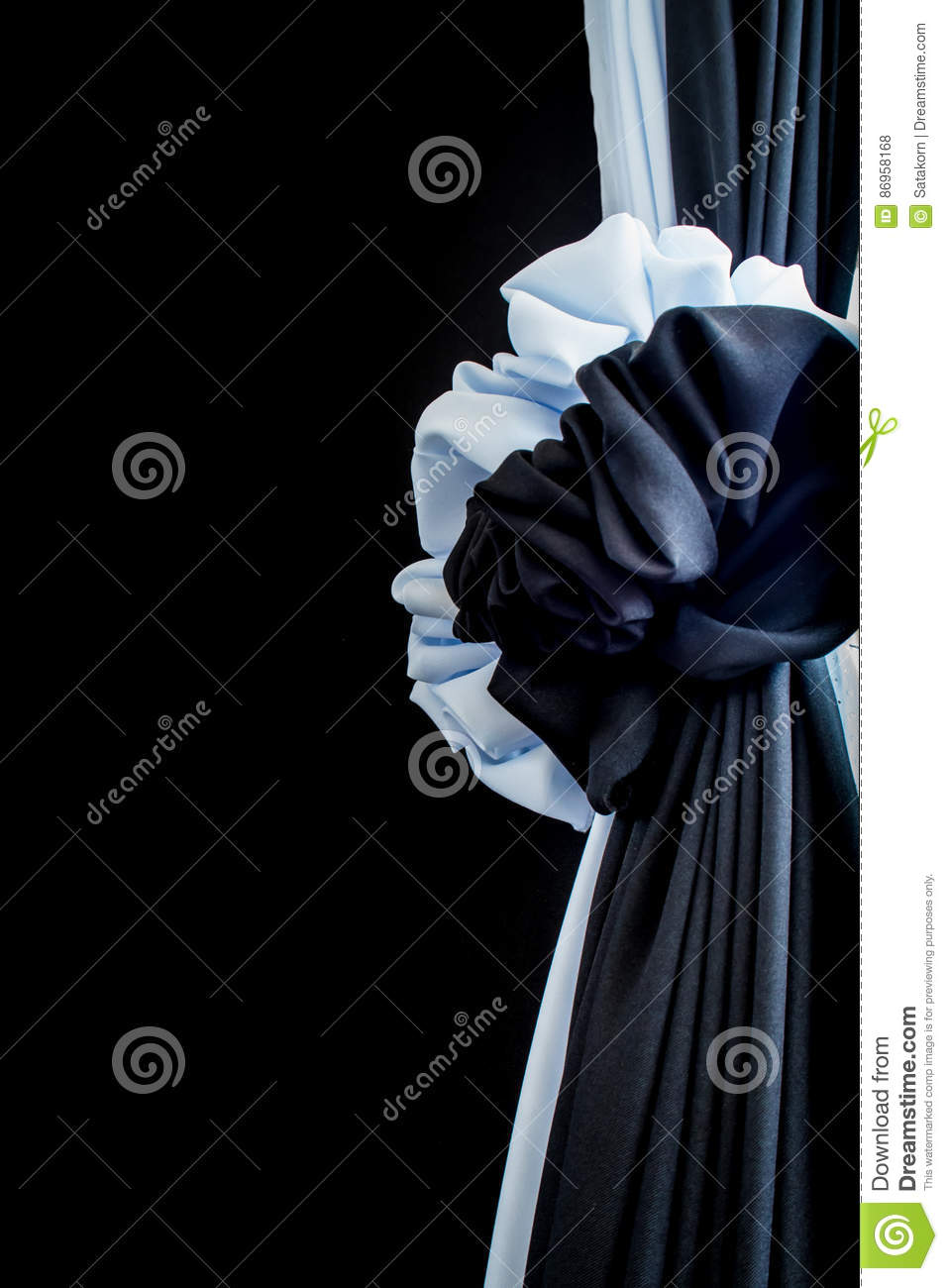 White and black silk up to express their grief