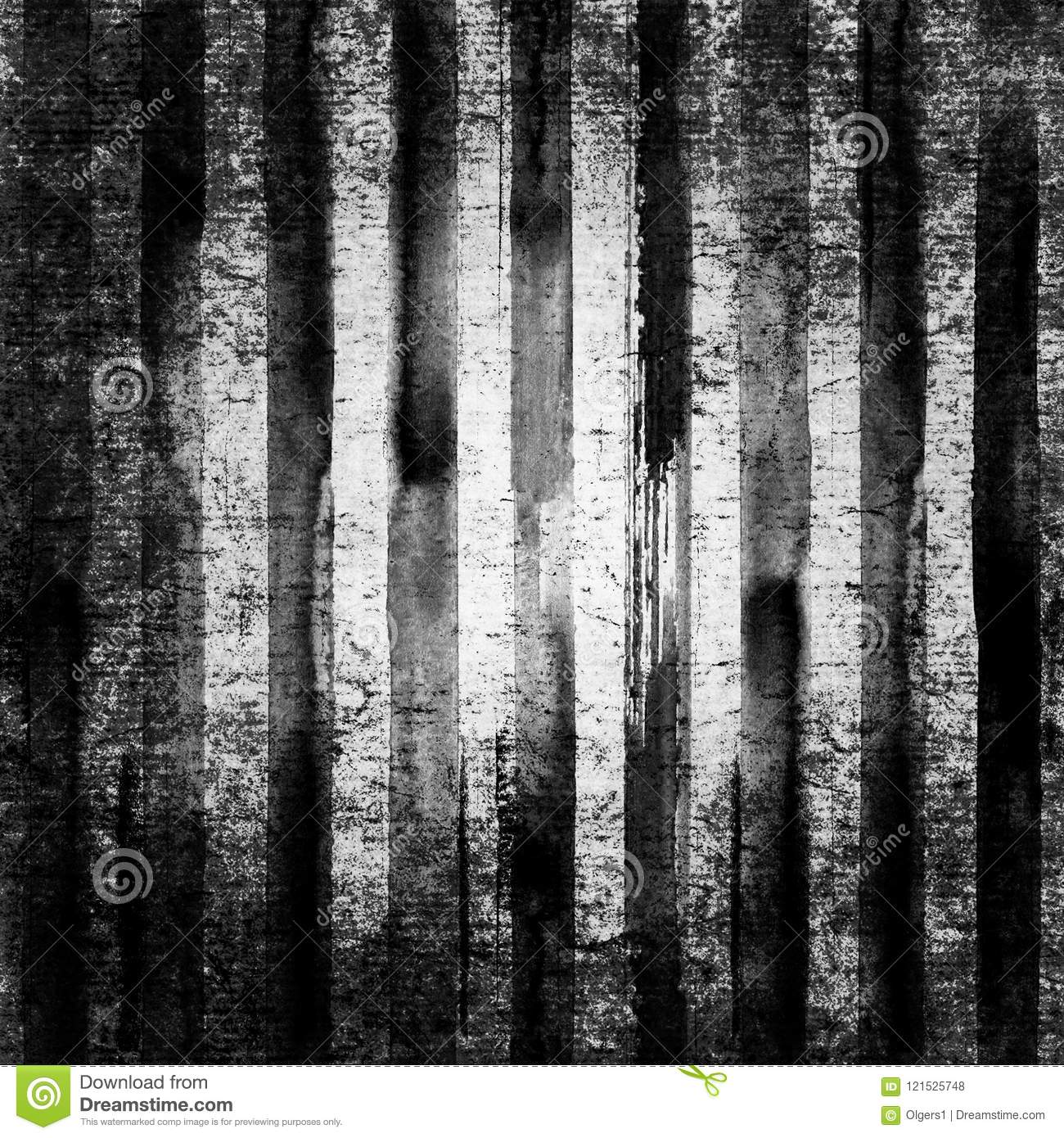 20f8a92ef03 Black and white stripes grunge vintage background. Watercolor hand drawn  striped backdrop. Watercolour abstract texture. Art rough urban splattered  dirty ...