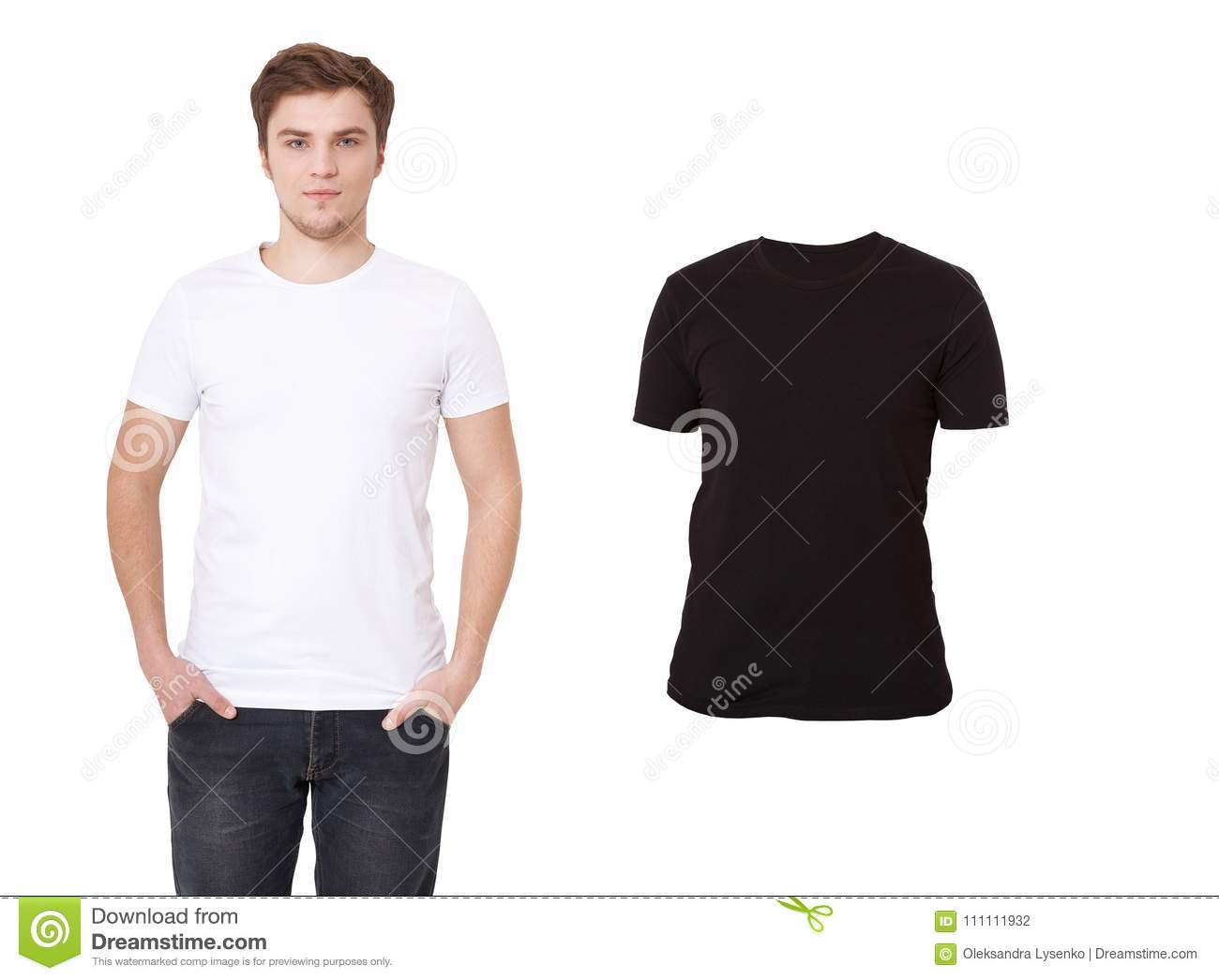 267ec2a67783 T-shirt template. Front view. Mock up isolated on white background. Blank  shirt