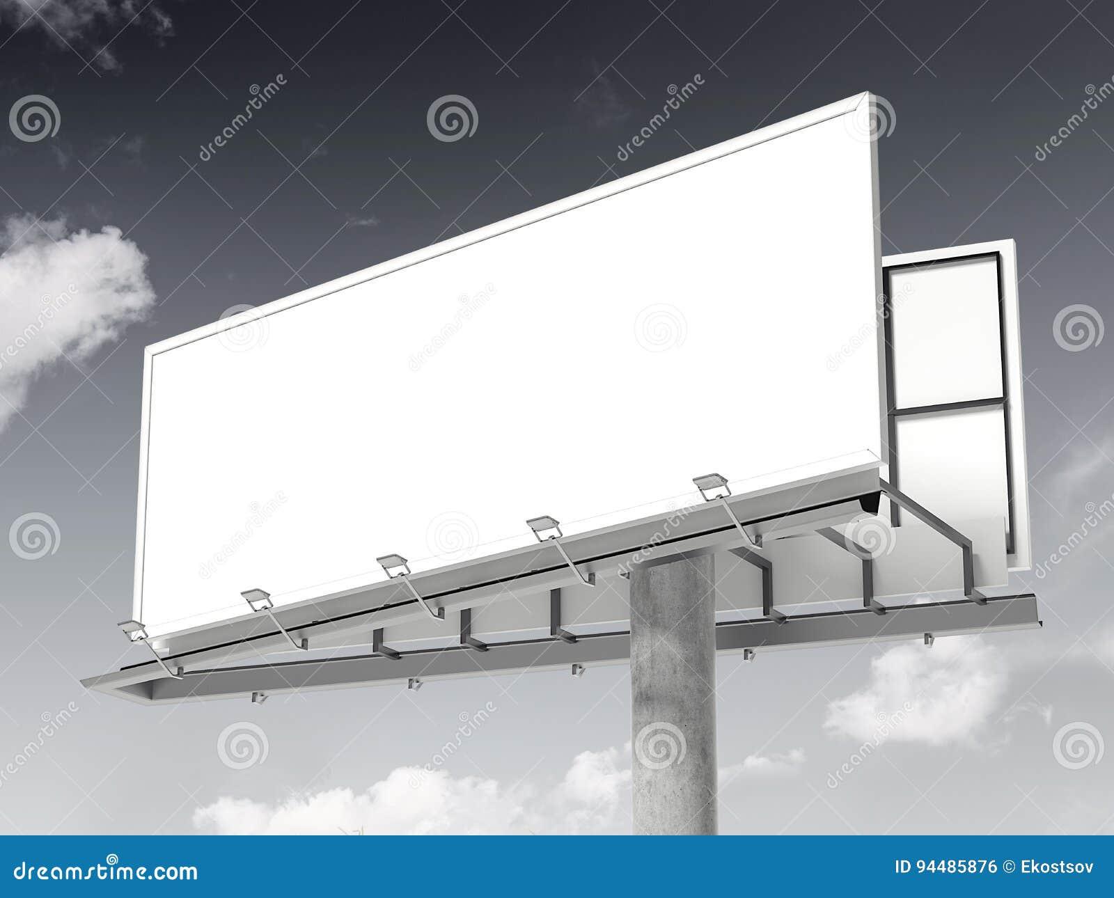 White blank billboard. 3d rendering