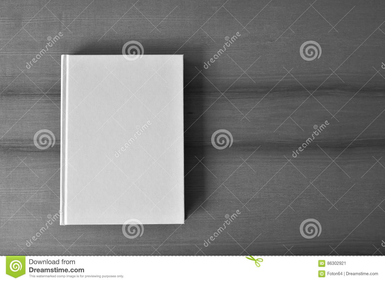Book Cover Black Xl ~ White blank book from above stock image of