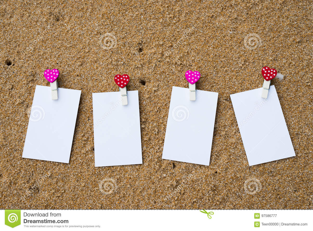White Blank Business Card On Beach Sand Stock Image - Image of ocean ...