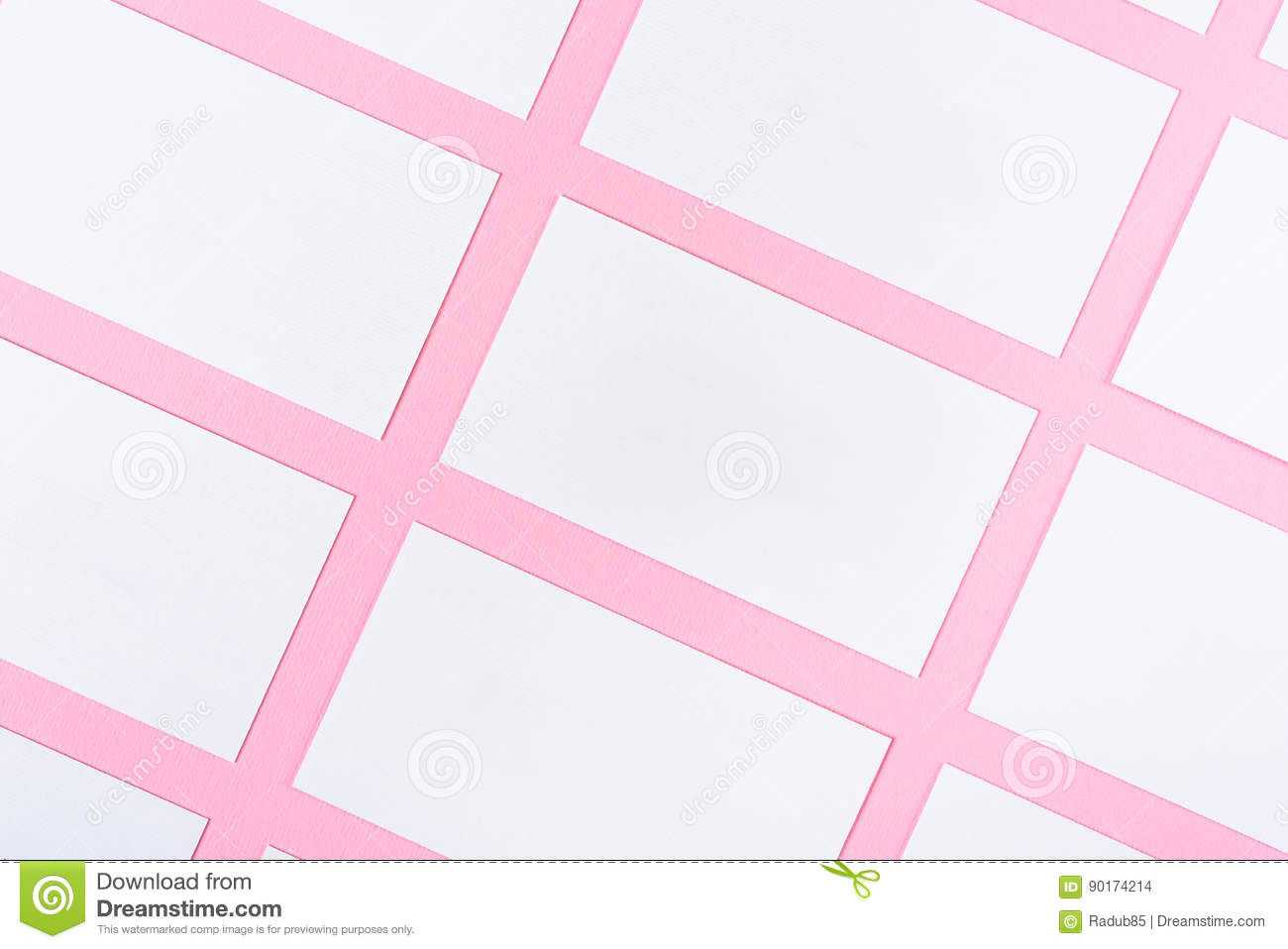 White Blank Business Cards On Pink Background With Paper Texture ...