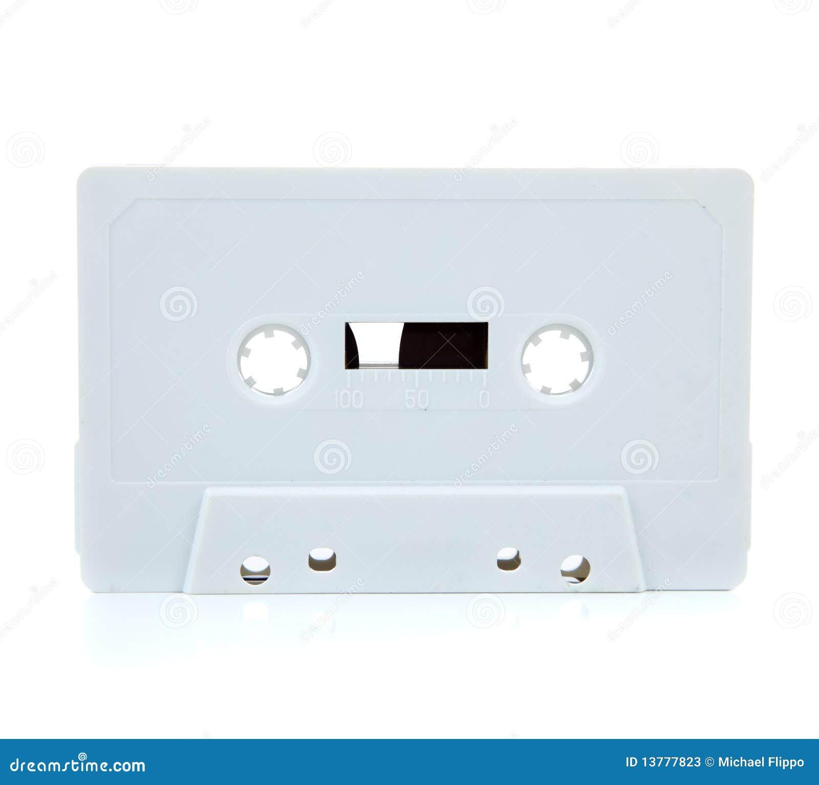 white blank cassette on white stock image image of stereo magnetic 13777823. Black Bedroom Furniture Sets. Home Design Ideas