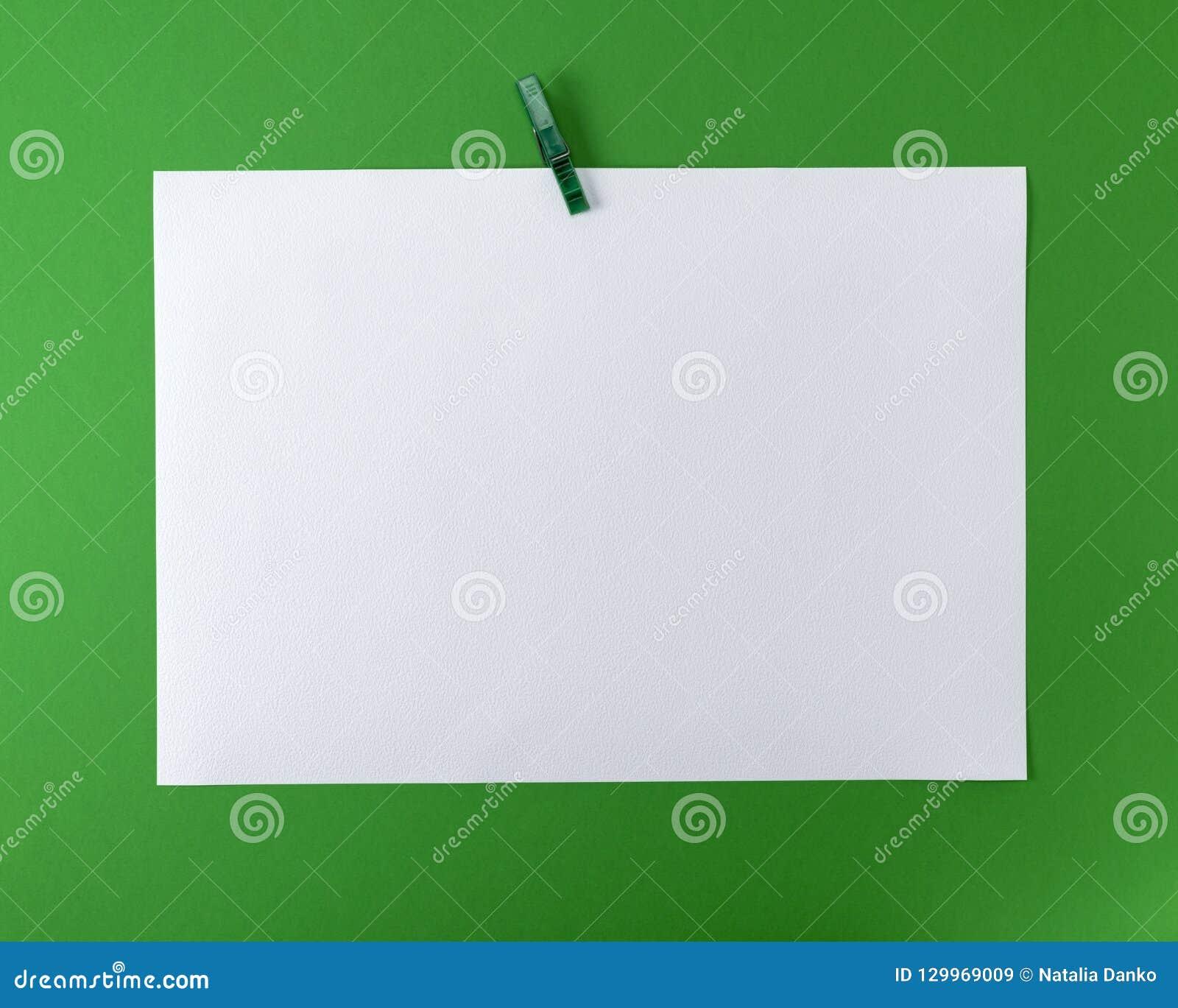 White blank drawing sheet
