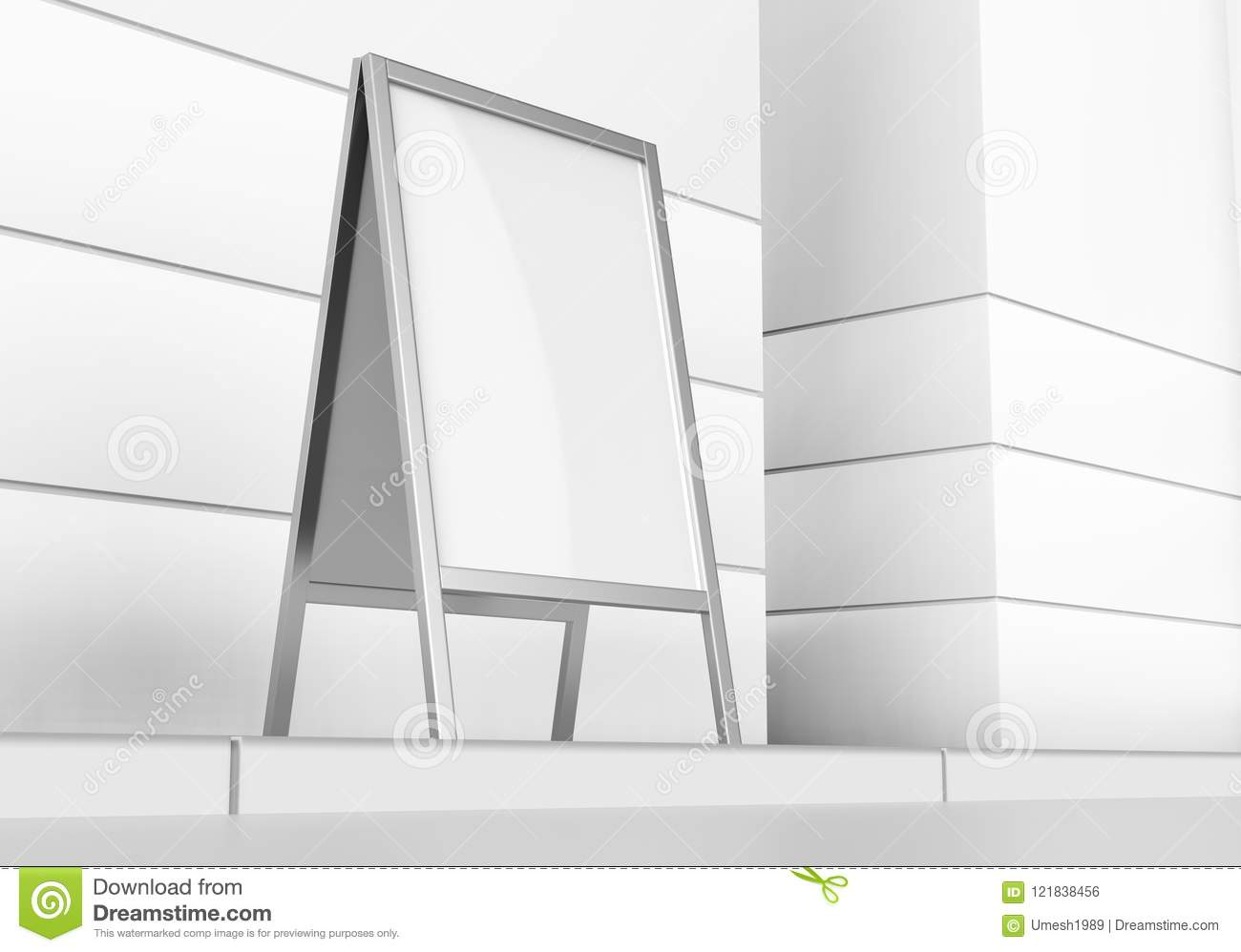 White Blank Empty Business Roll Up And Standee Banner