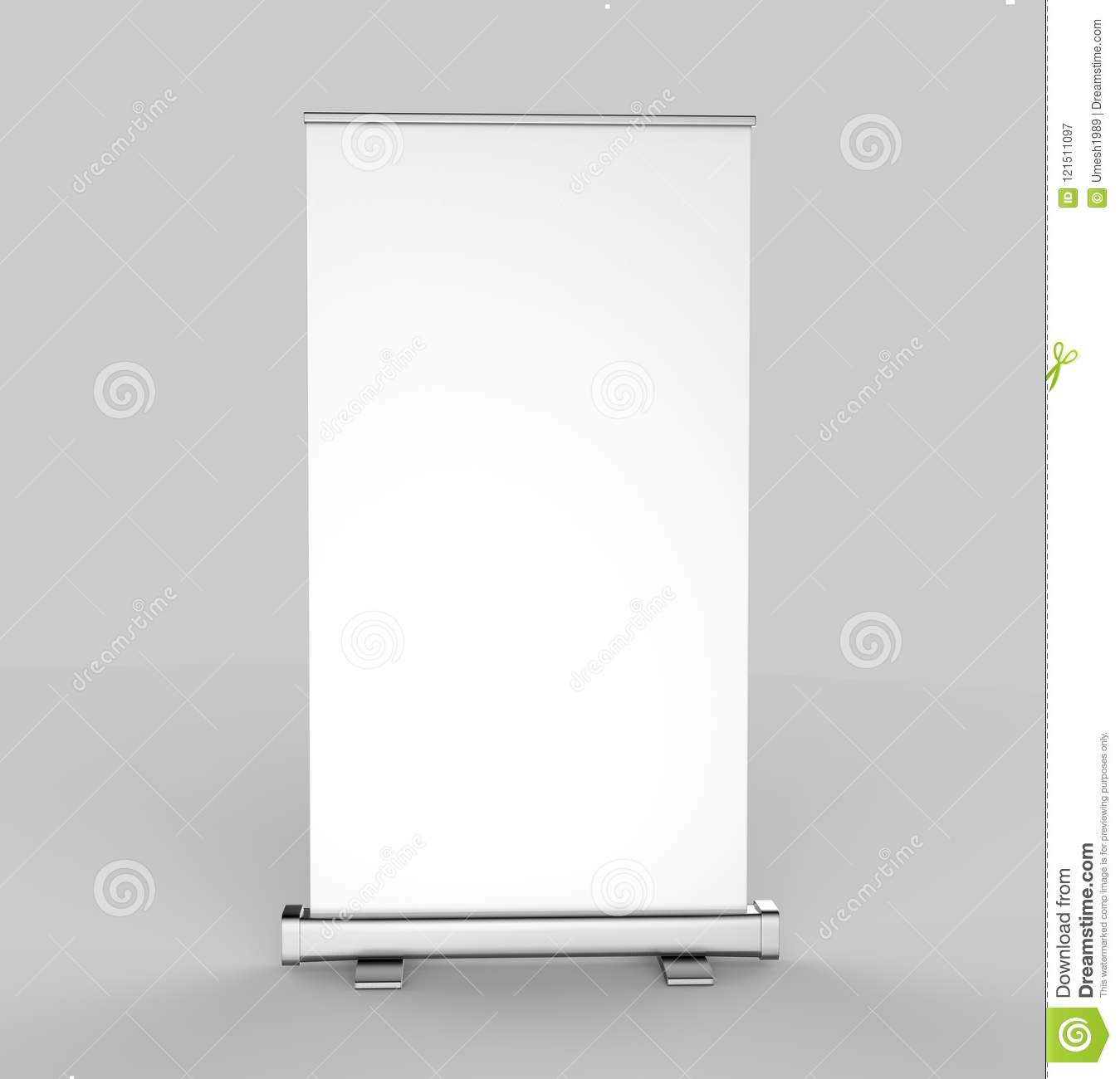 White Blank Empty High Resolution Business Roll Up And