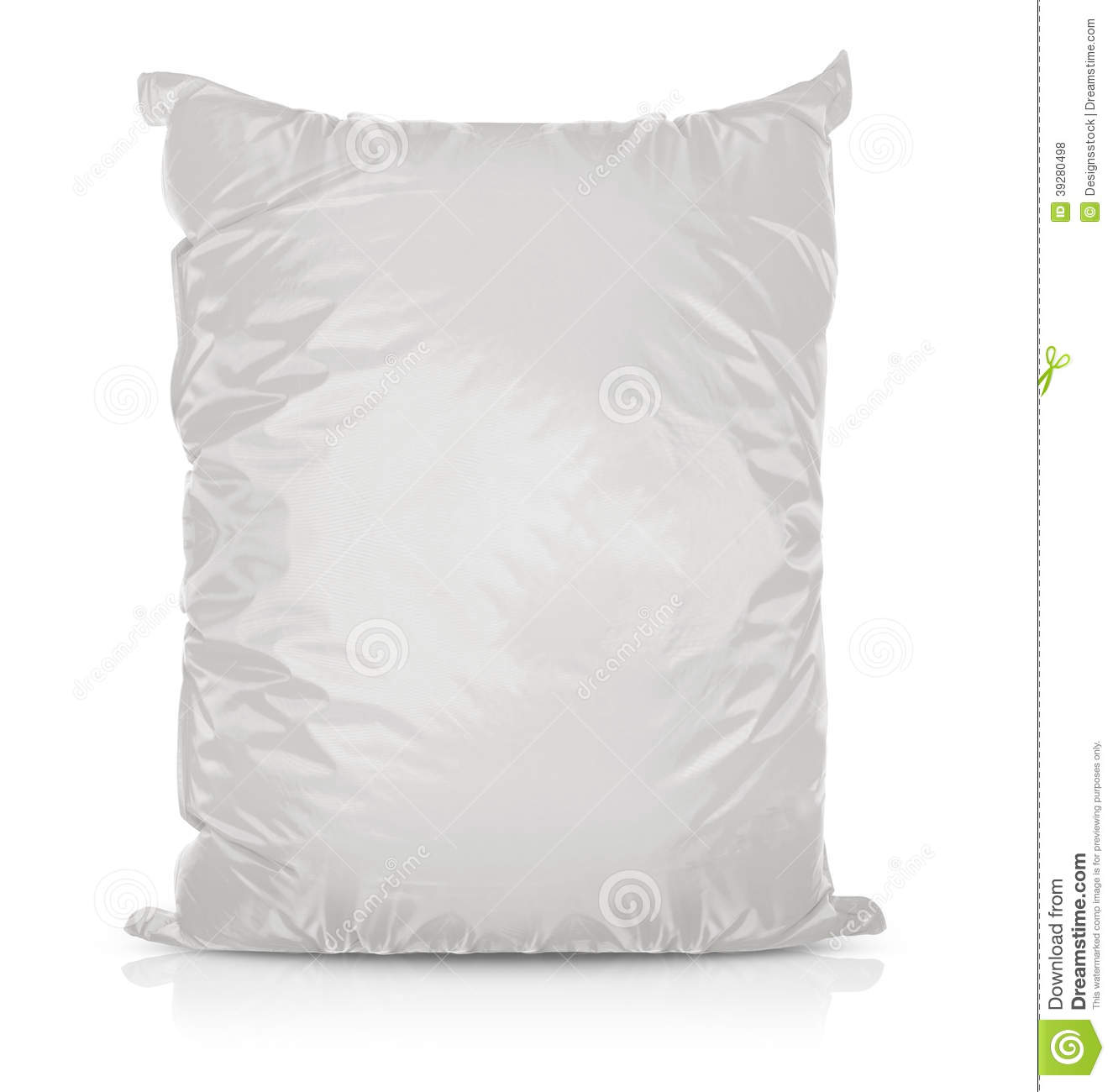White Blank Foil Food Bag Stock Photo Image 39280498