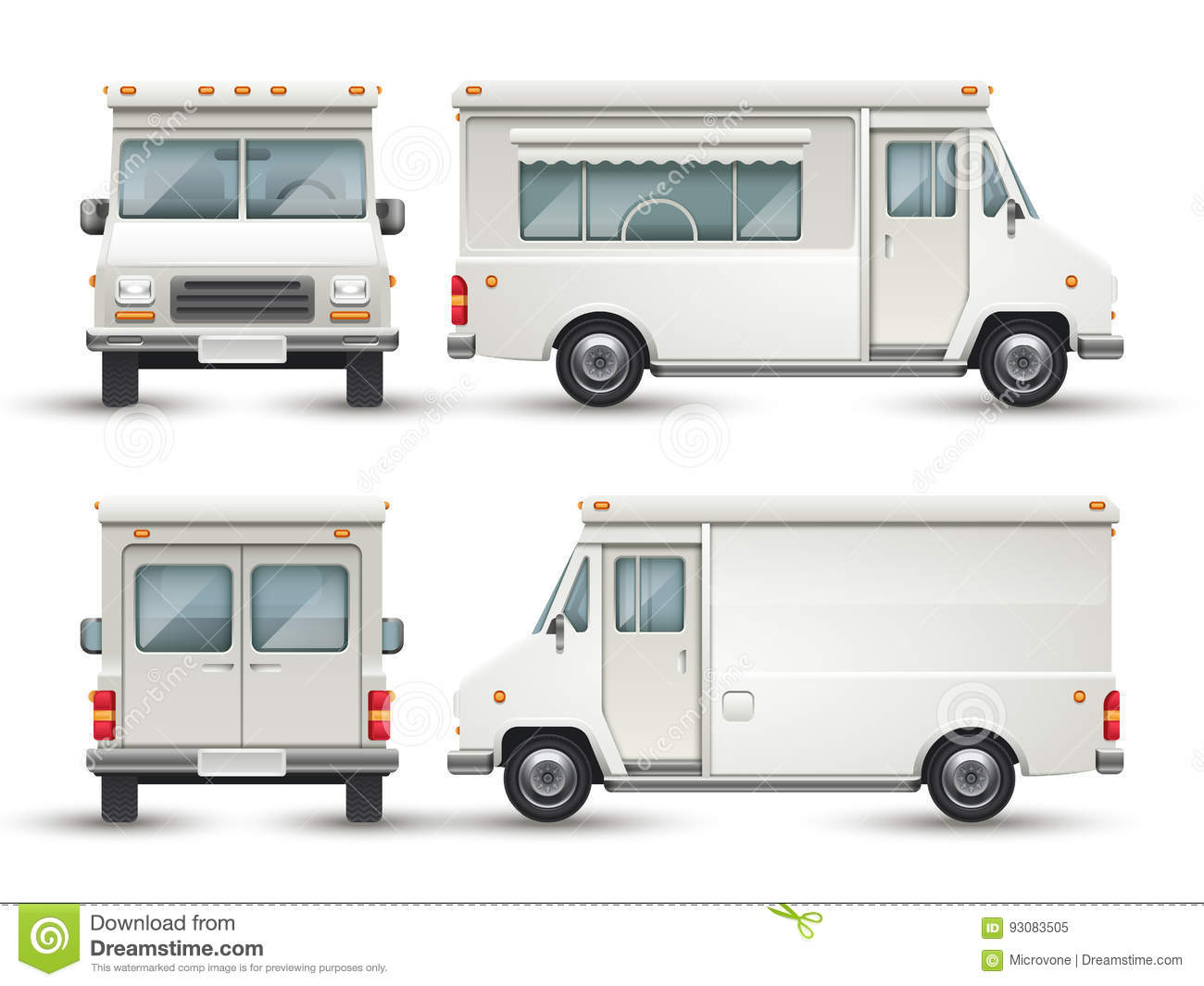 Blank Food Truck Template Free