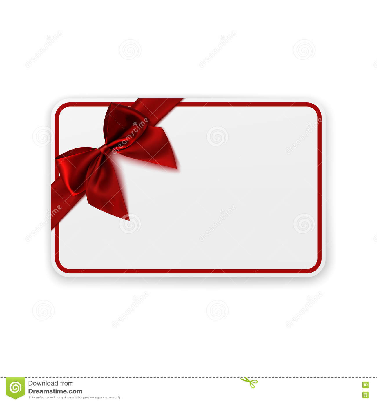 White Blank Gift Card Template. Stock Vector - Image: 78407427