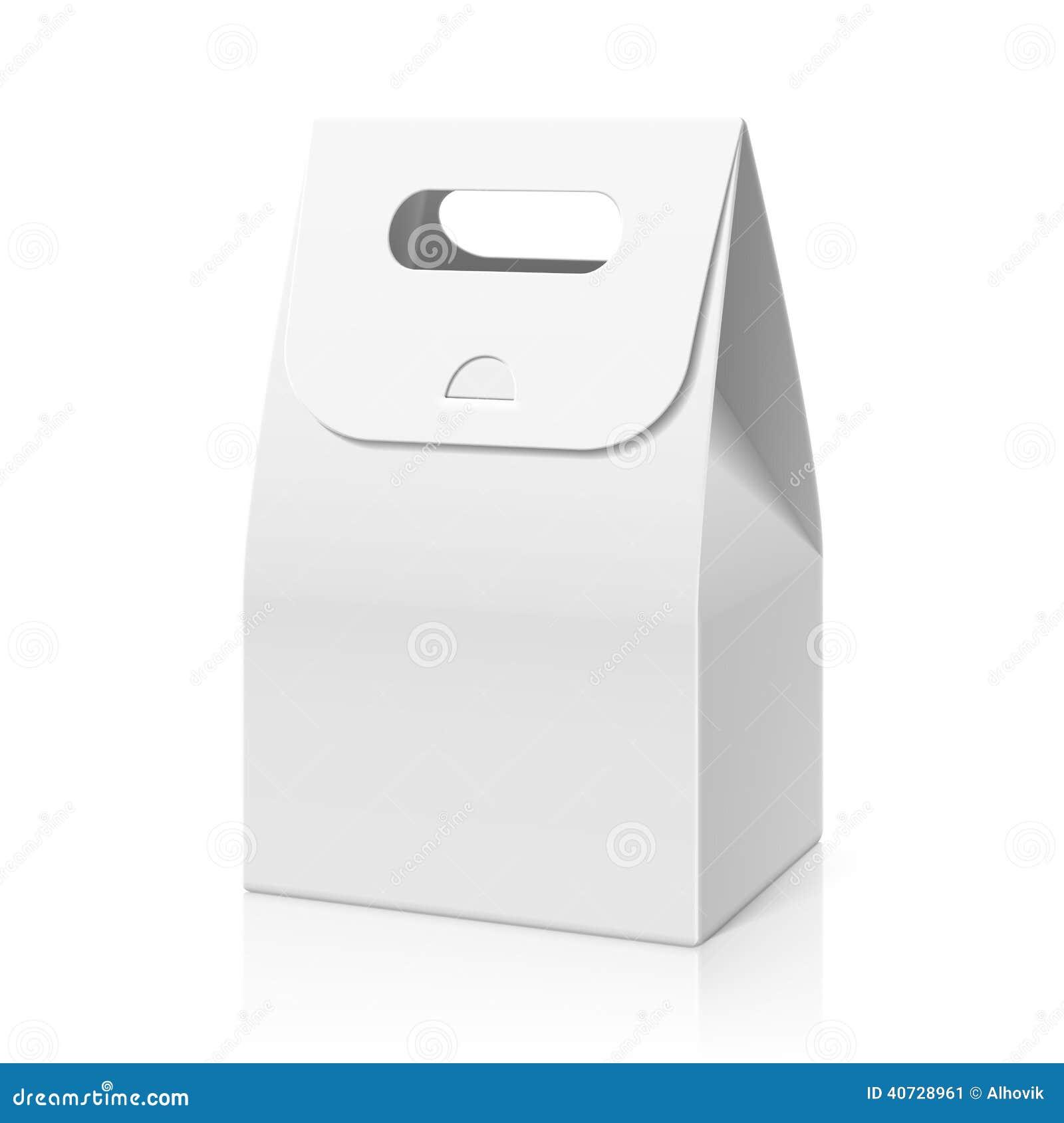 Cake Packaging Design Vector : White Blank Hand Cake, Bread Packaging Paper Bag Stock ...