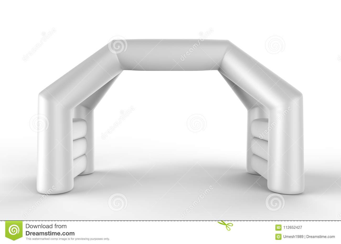 White Blank Inflatable Angular Arch Tube Or Event Entrance Gate