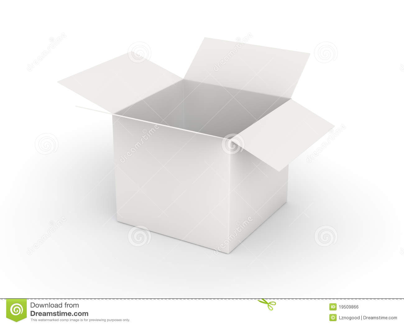 White Blank Open Box Royalty Free Stock Image - Image ...