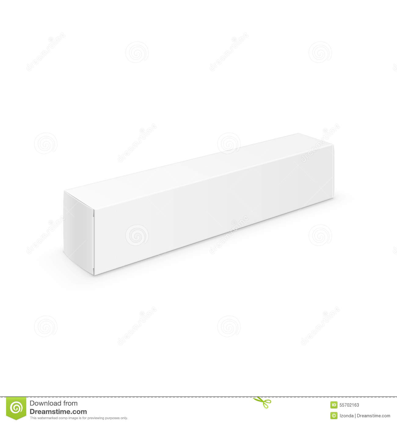 White Blank Packaging Package Pack Toothpaste Box Stock Vector Illustration Of Medical Paper 55702163