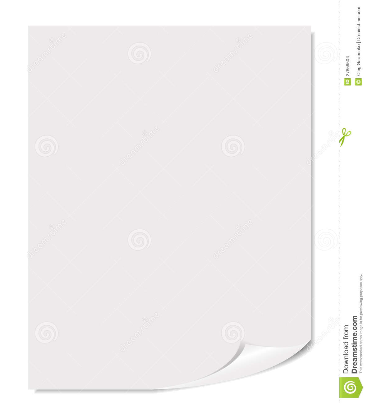 Photo Page: White Blank Page Vector Illustration Stock Images