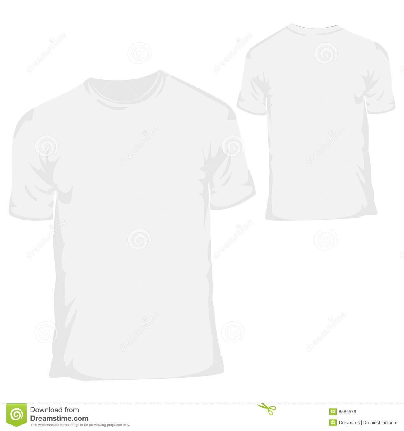 White blank t shirt design template for menswear royalty for Blank t shirt design template