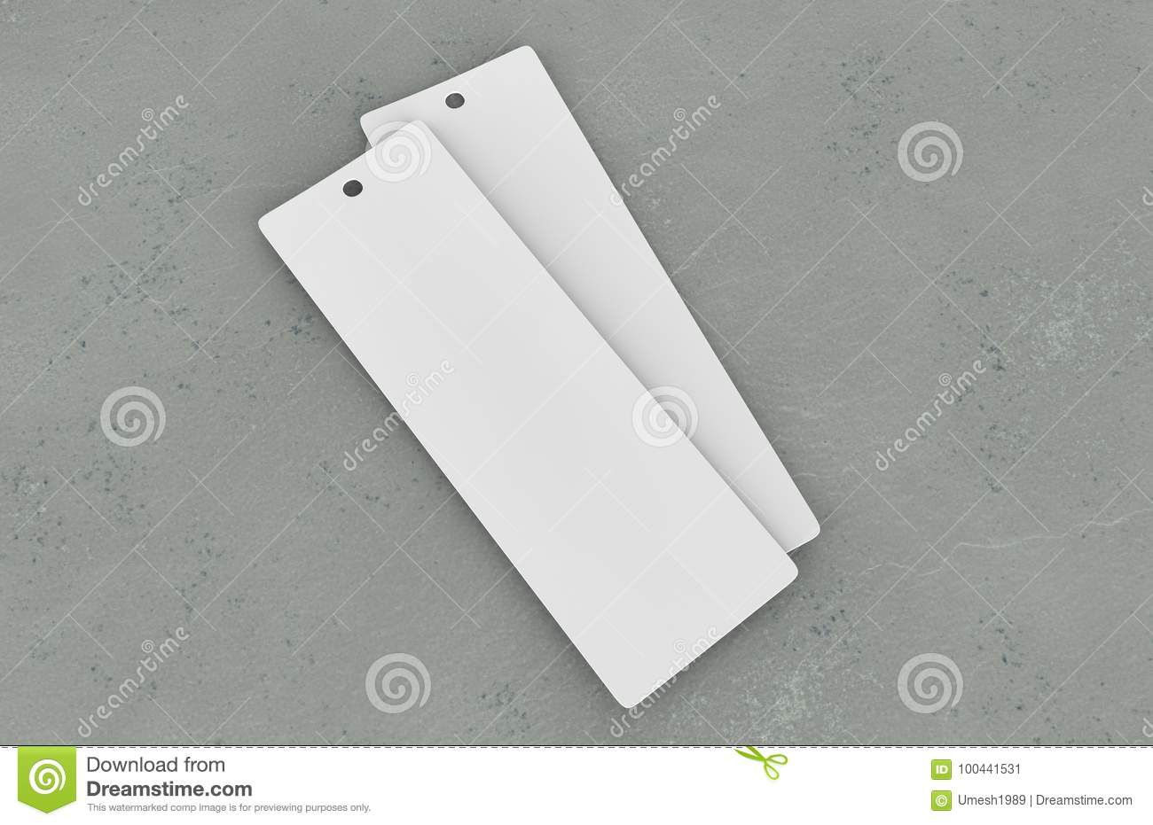 White Blank Tag Or Label And Bookmark Stock Illustration ...