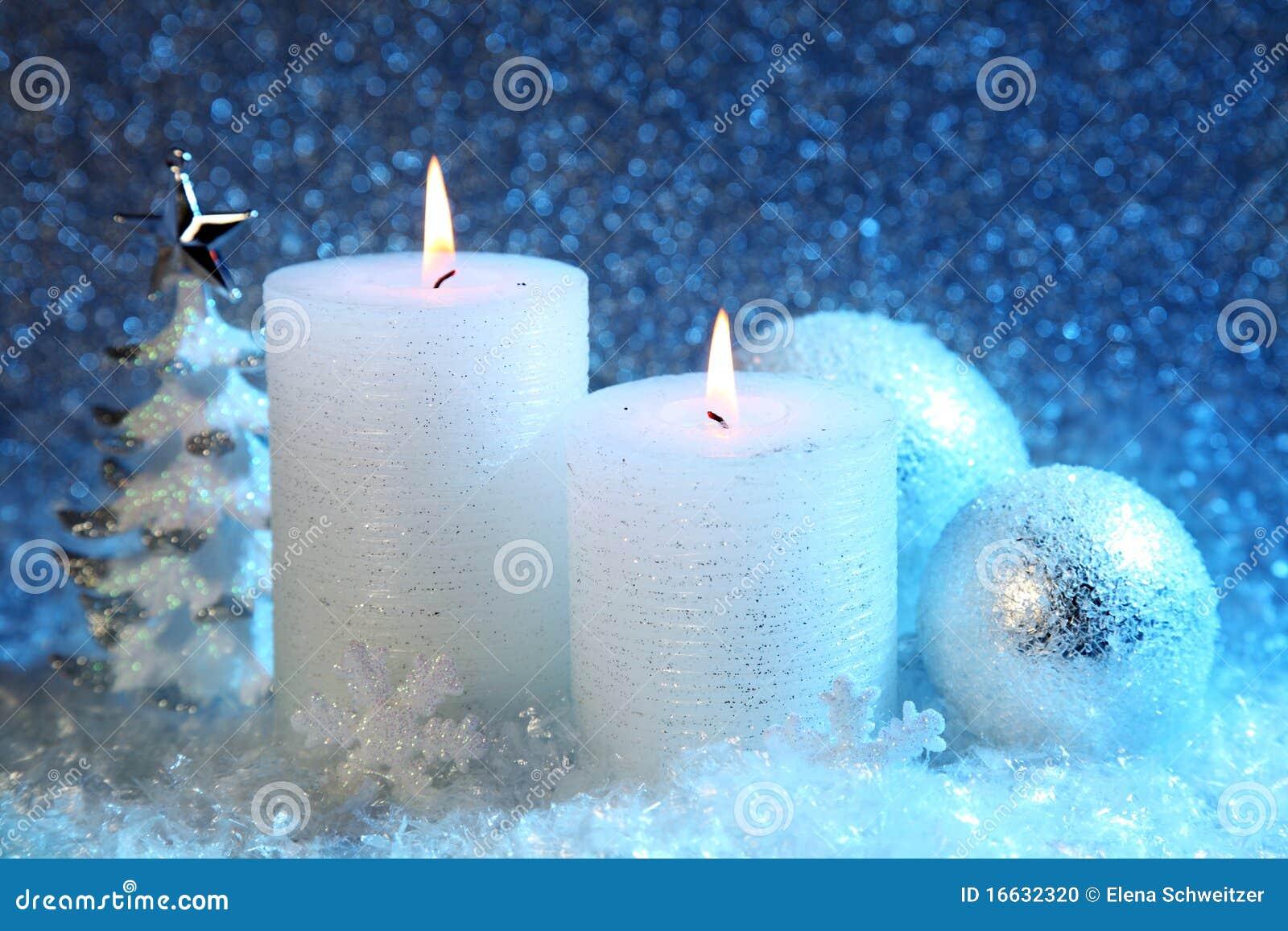White And Blue Christmas Decoration Stock Photo - Image: 16632320