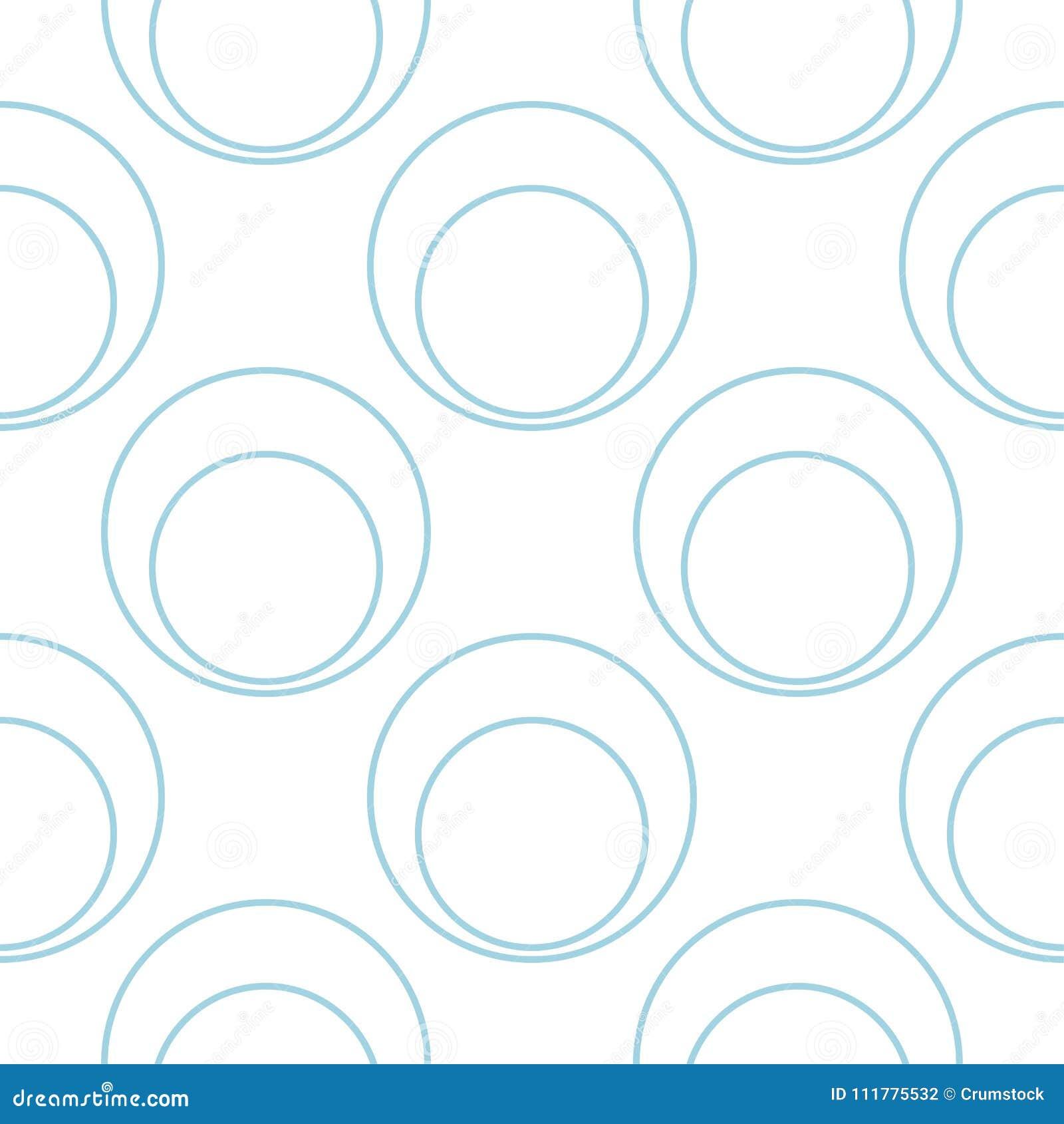 White and blue geometric ornament. Seamless pattern
