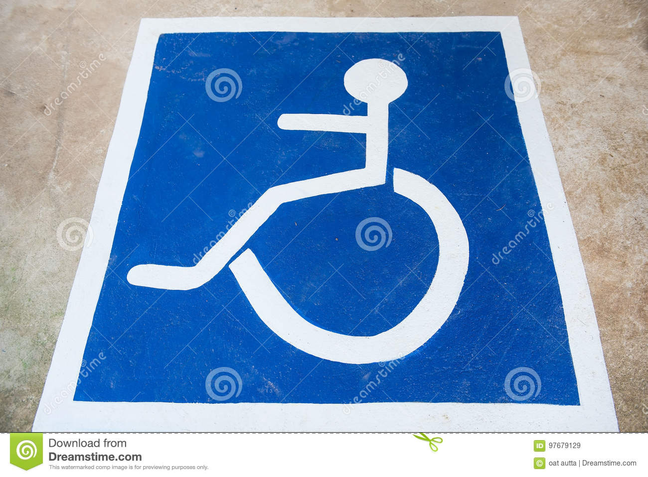 White and blue handicap symbol car parking of disabled on the royalty free stock photo buycottarizona
