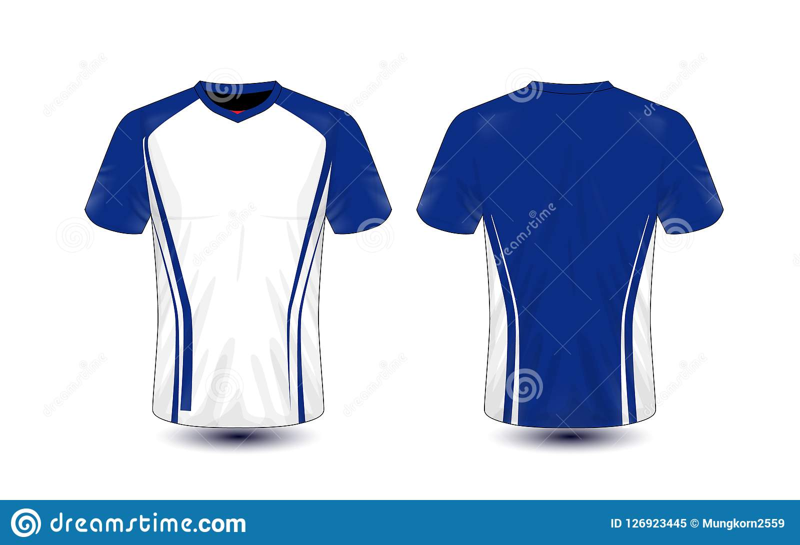 White And Blue Layout E Sport T Shirt Design Template Stock Vector