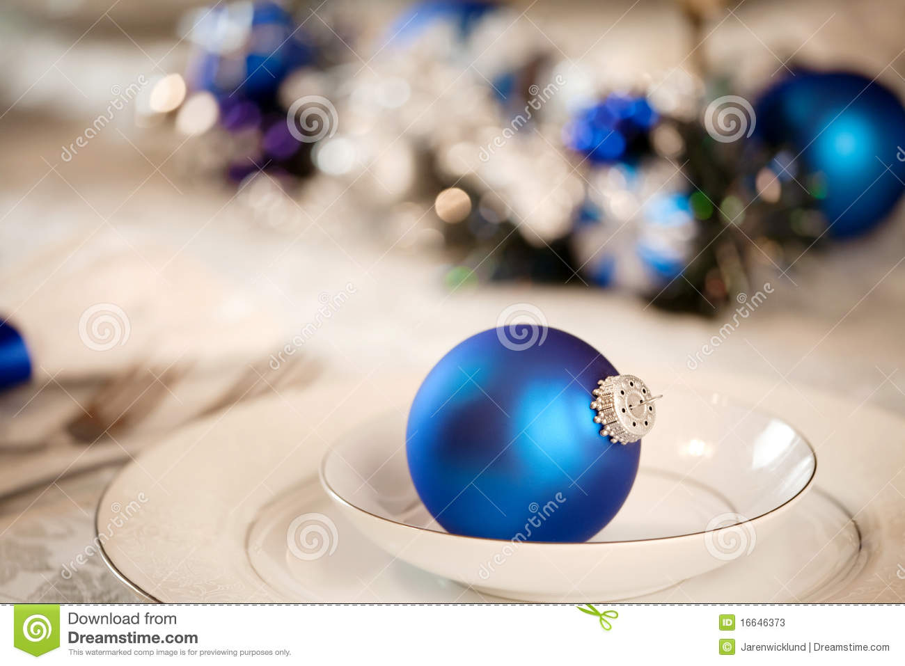 More Similar Stock Images Of White And Blue Table Decorations