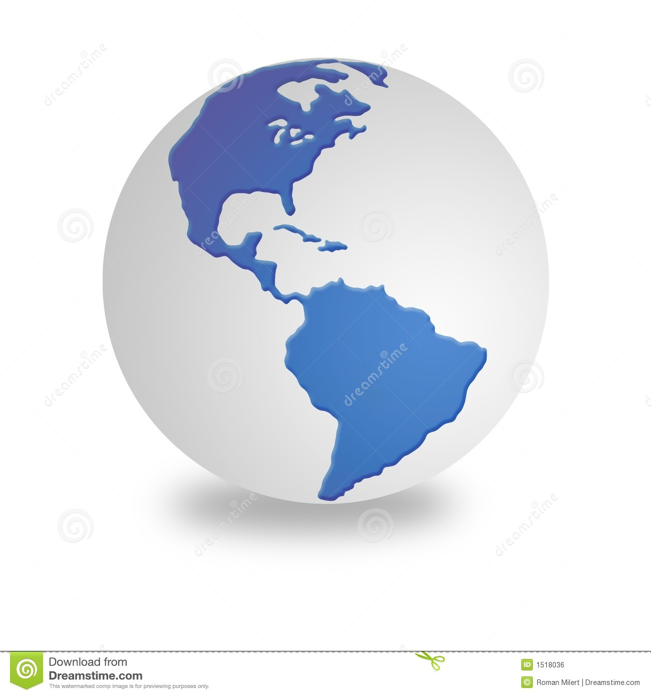 White And Blue World Globe Royalty Free Stock Image ...