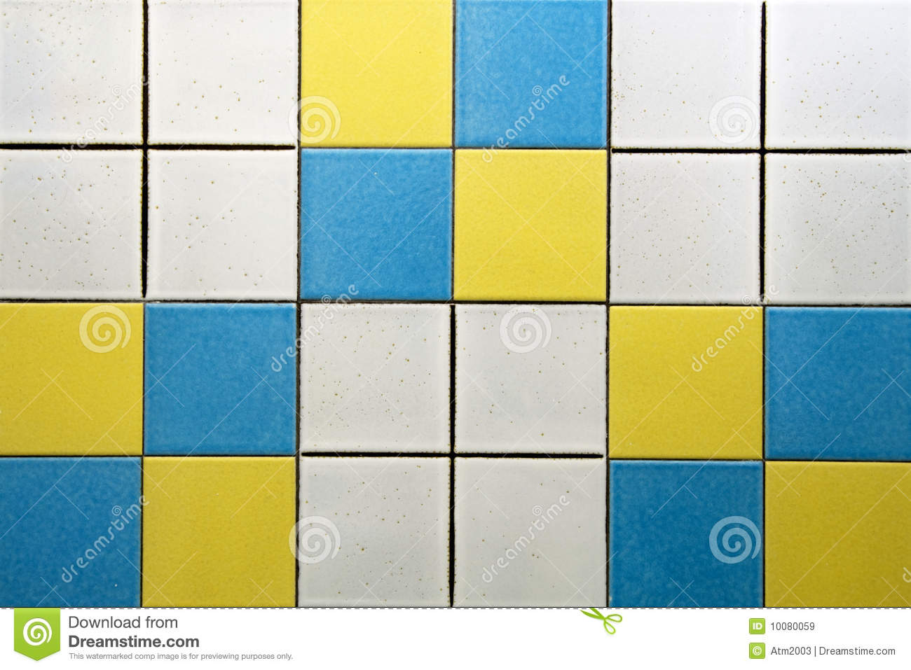 White Blue And Yellow Tiles Stock Image Image 10080059