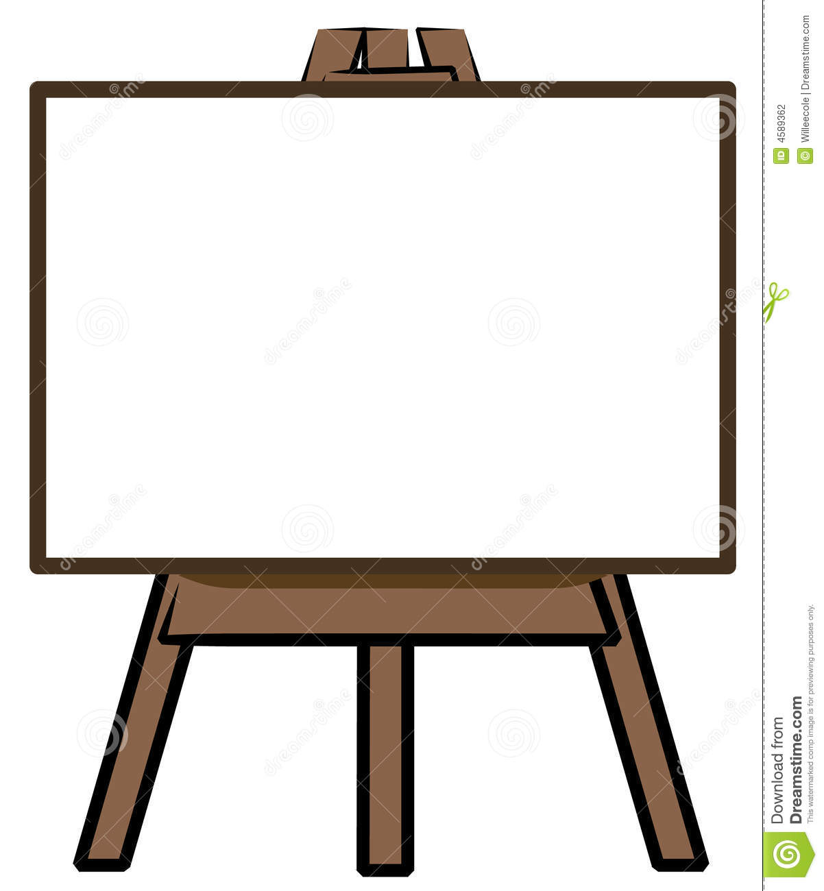 White Board On Easel Stock Vector Illustration Of Display
