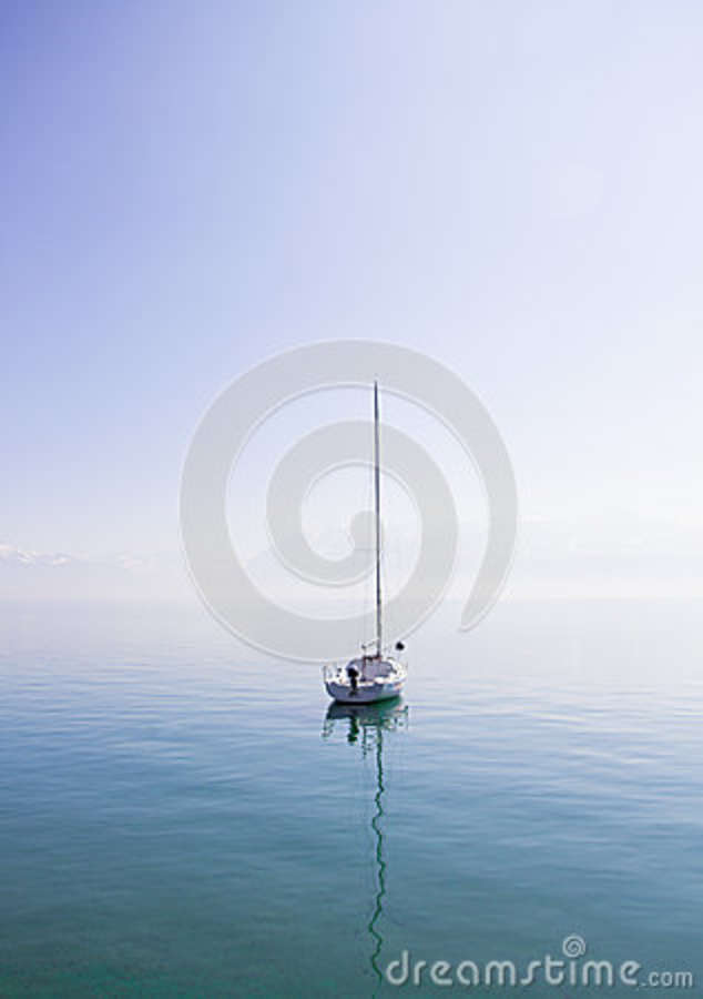 Download White Boat On The Middle Of Body Of Water Stock Image - Image of boat, photo: 83023551