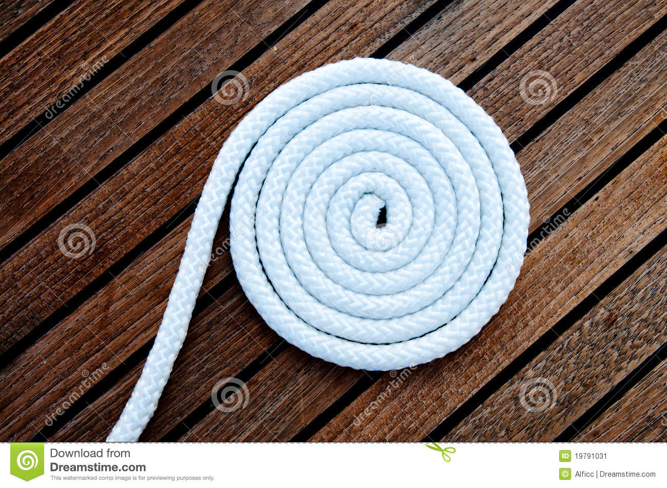 Download White Boat Rope Coiled On The Deck Stock Image - Image of bonding, isolated: 19791031