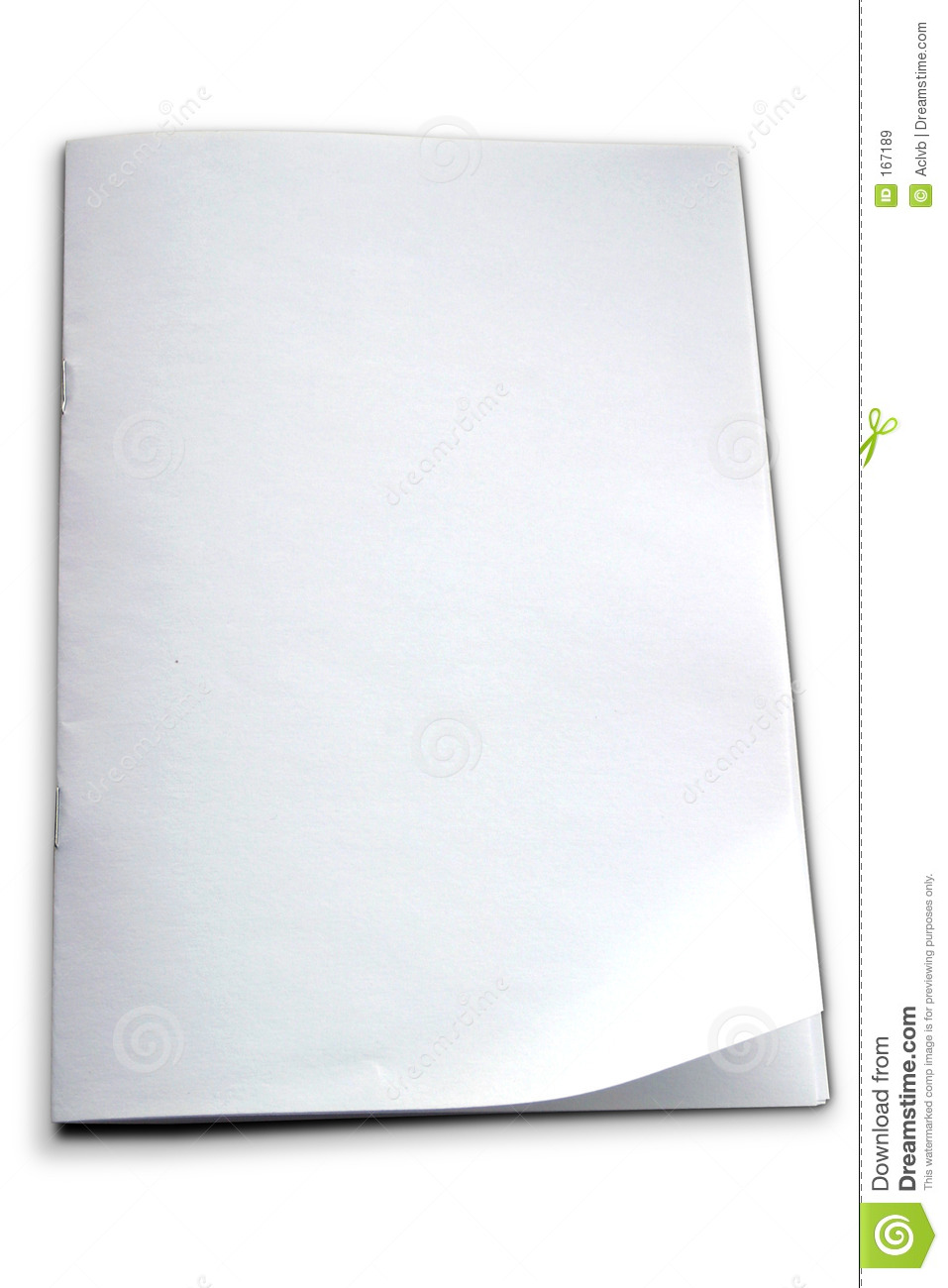 white booklet template