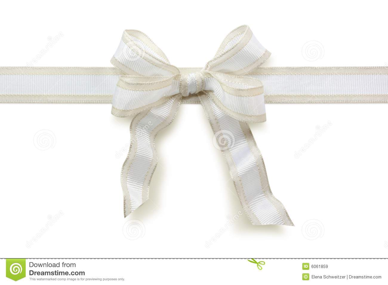 White Bow Royalty Free Stock Images Image 6061859