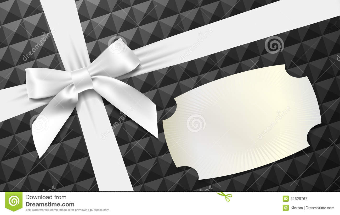 Free Vector Illustration Juniper: White Bow On A Black Textured Background Stock Vector