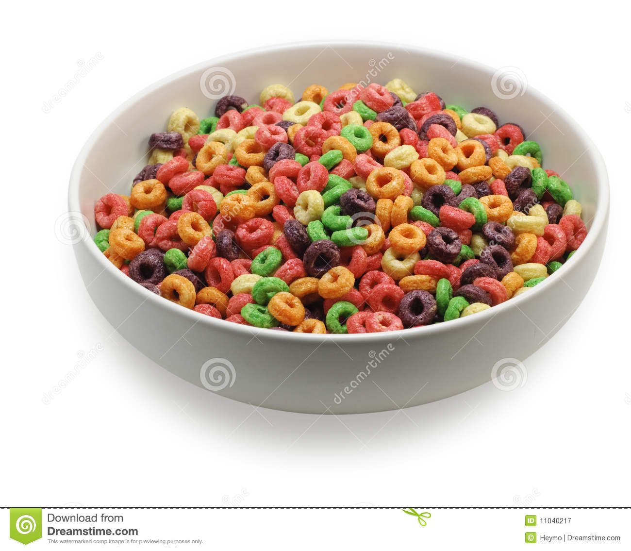 White Bowl With Colorful Cereal Royalty Free Stock Photography - Image ...