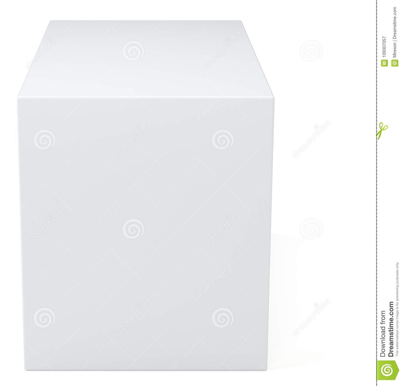 official site buying cheap on sale White Box Cube In Studio Background. Blank Empty Package 3d ...