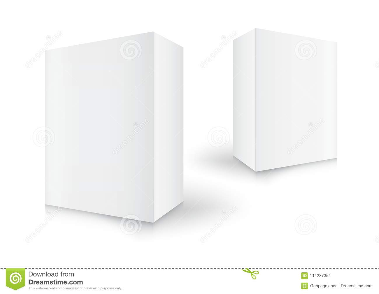White Boxes Package 3d Box Product Design Vector Illustration