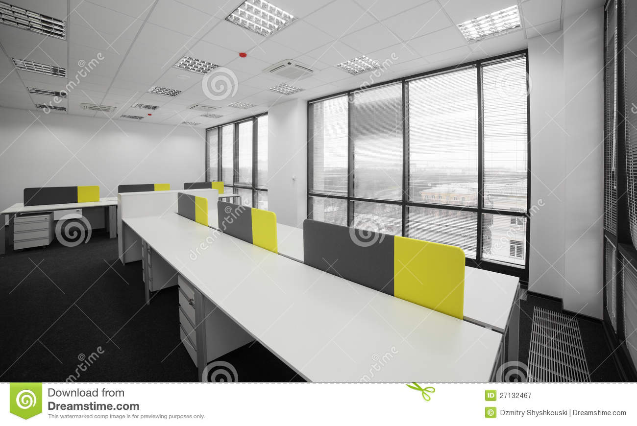White brand new interior of office royalty free stock for New interior