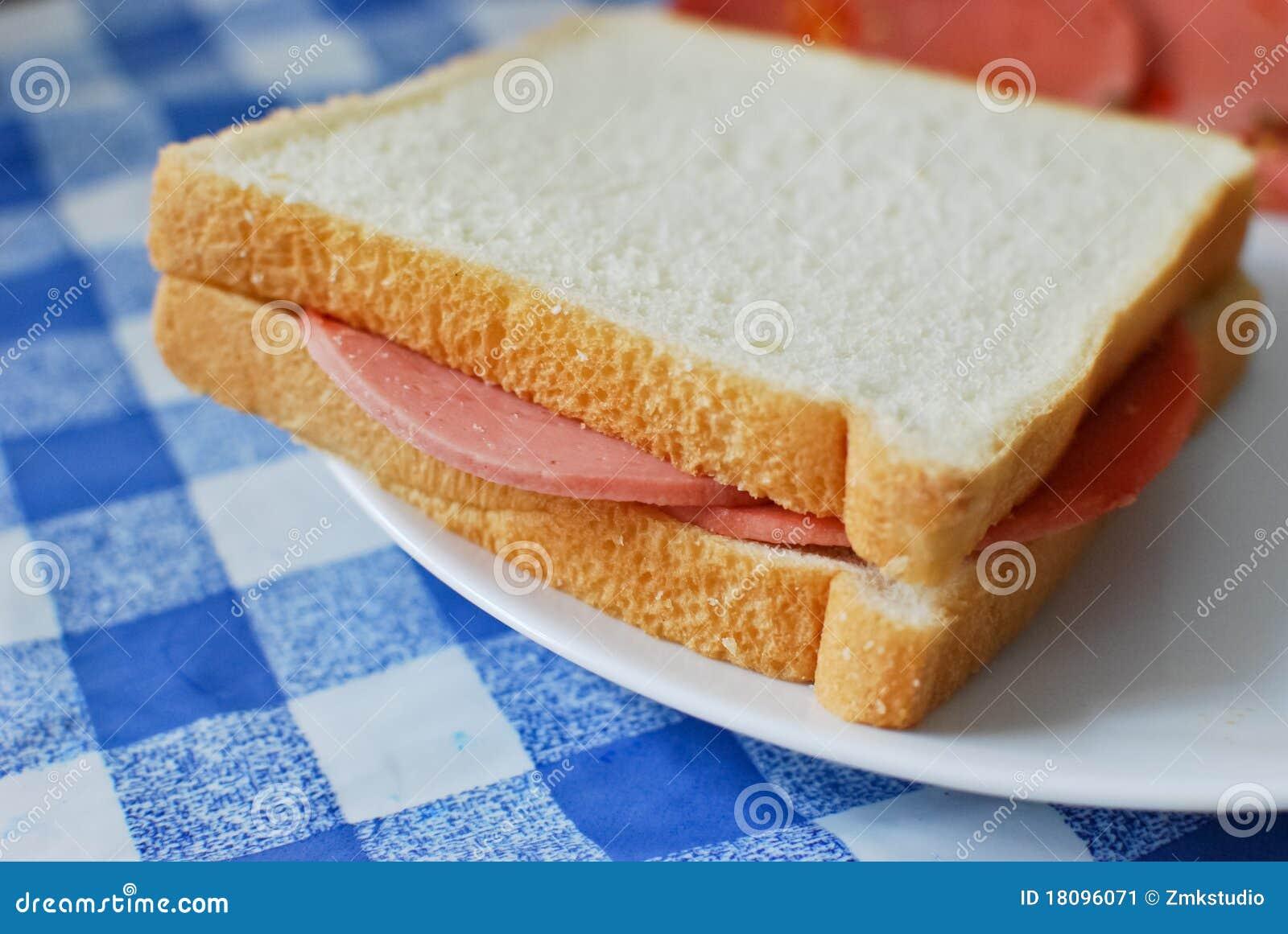 bread bologna ham sand...