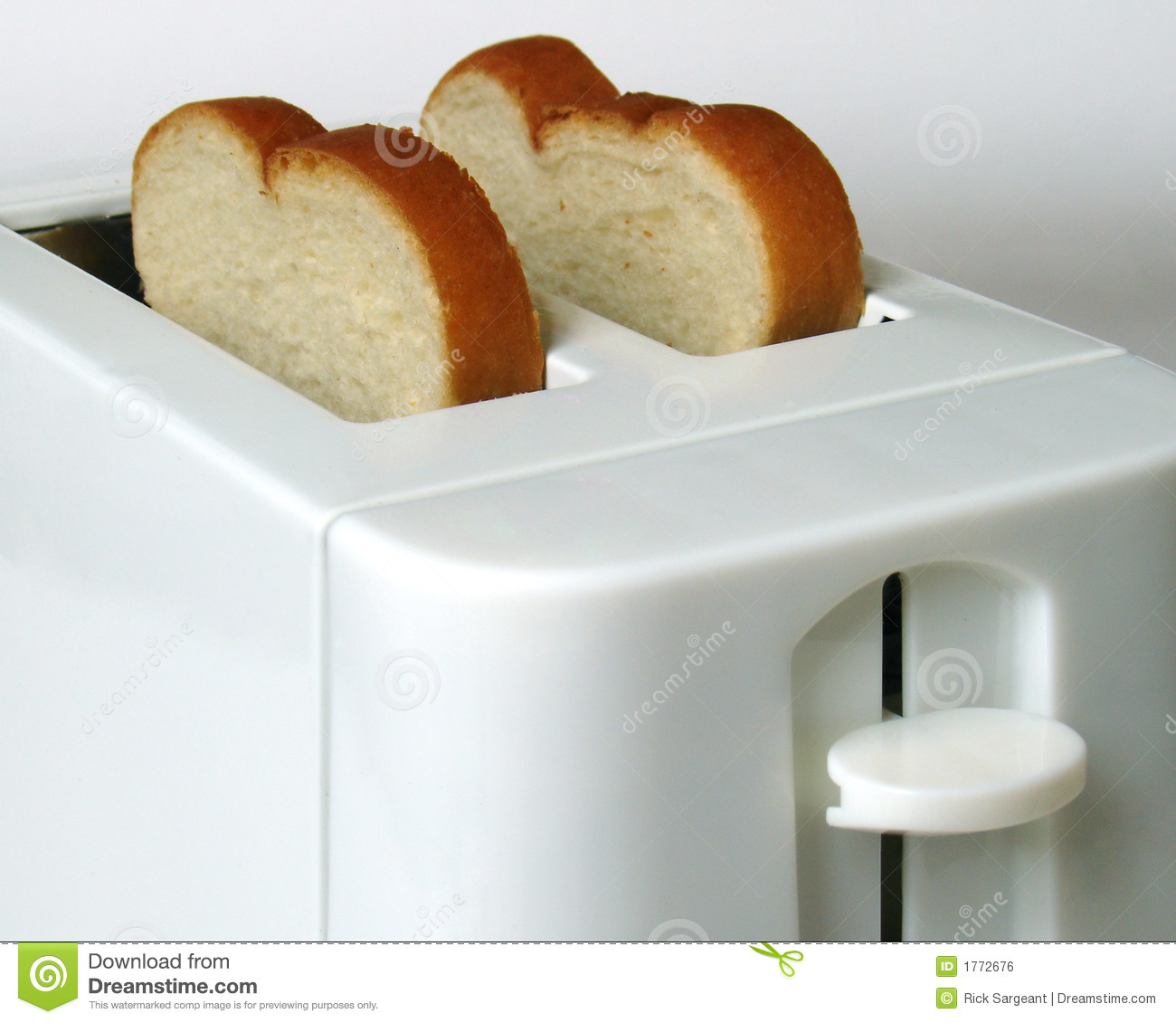 Toast In Toaster ~ White bread toaster stock photo image of sandwitch snack