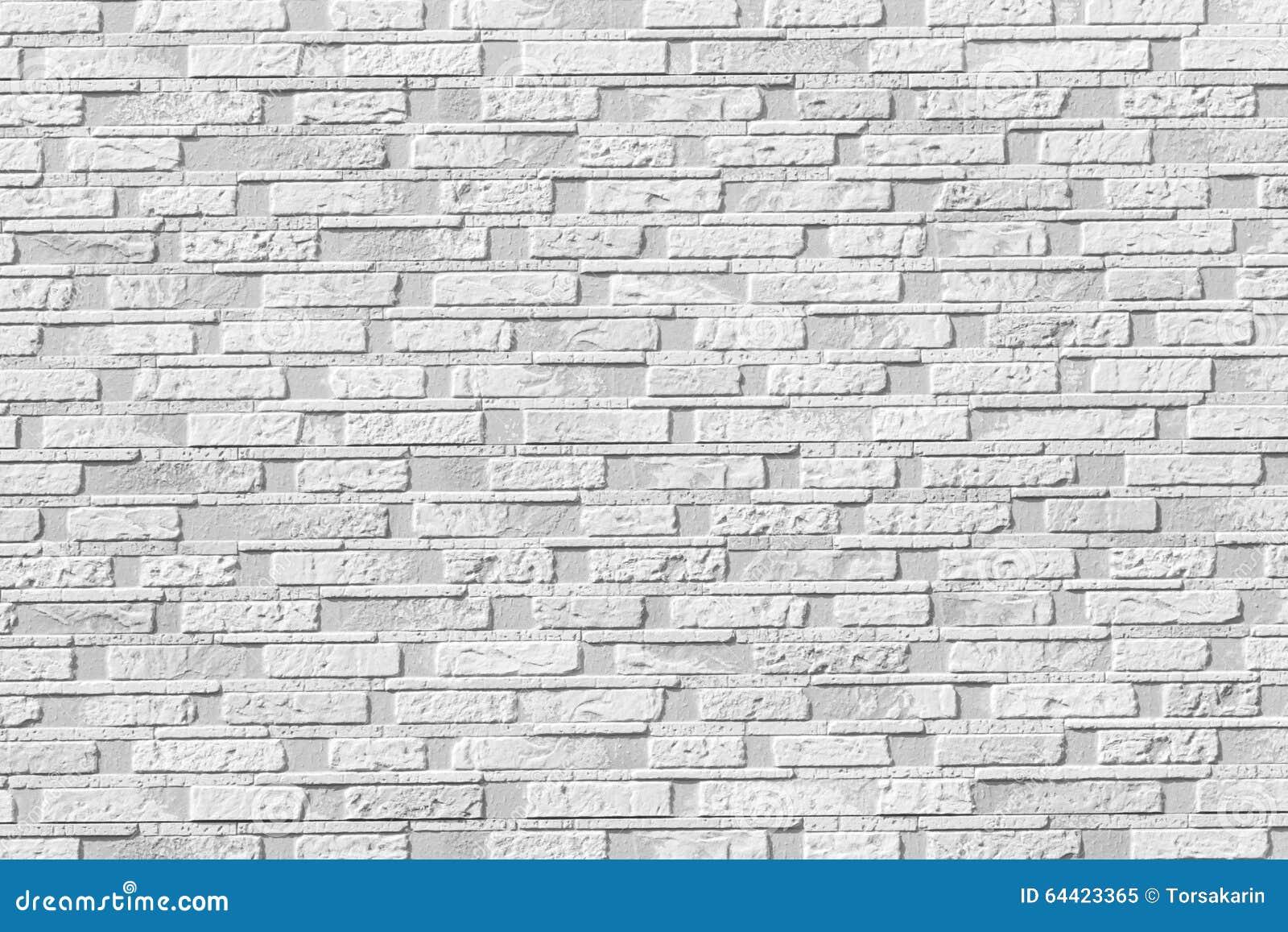 White Brick Stone Wall Seamless Background Stock Image