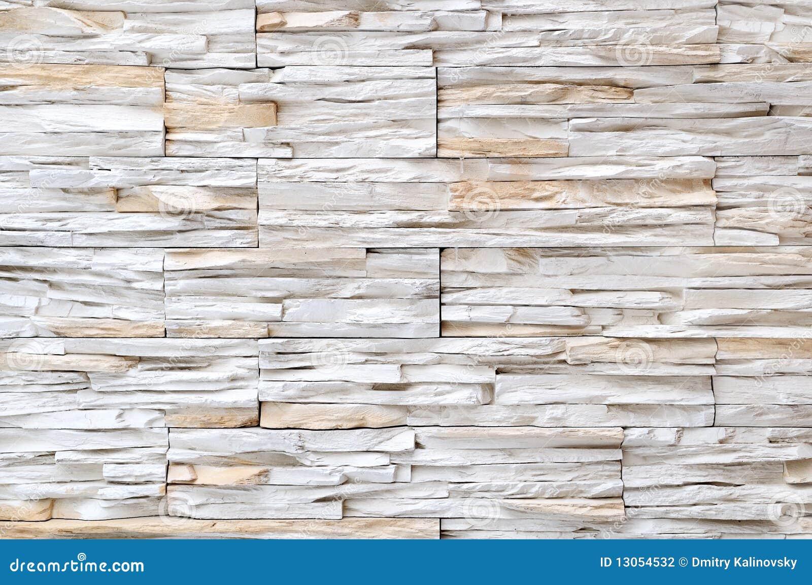 White brick stone wall texture
