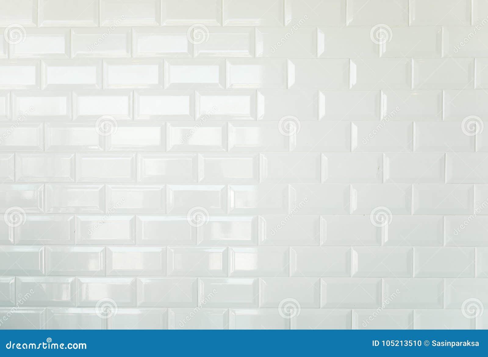 White brick tiles vintage tiled wall background