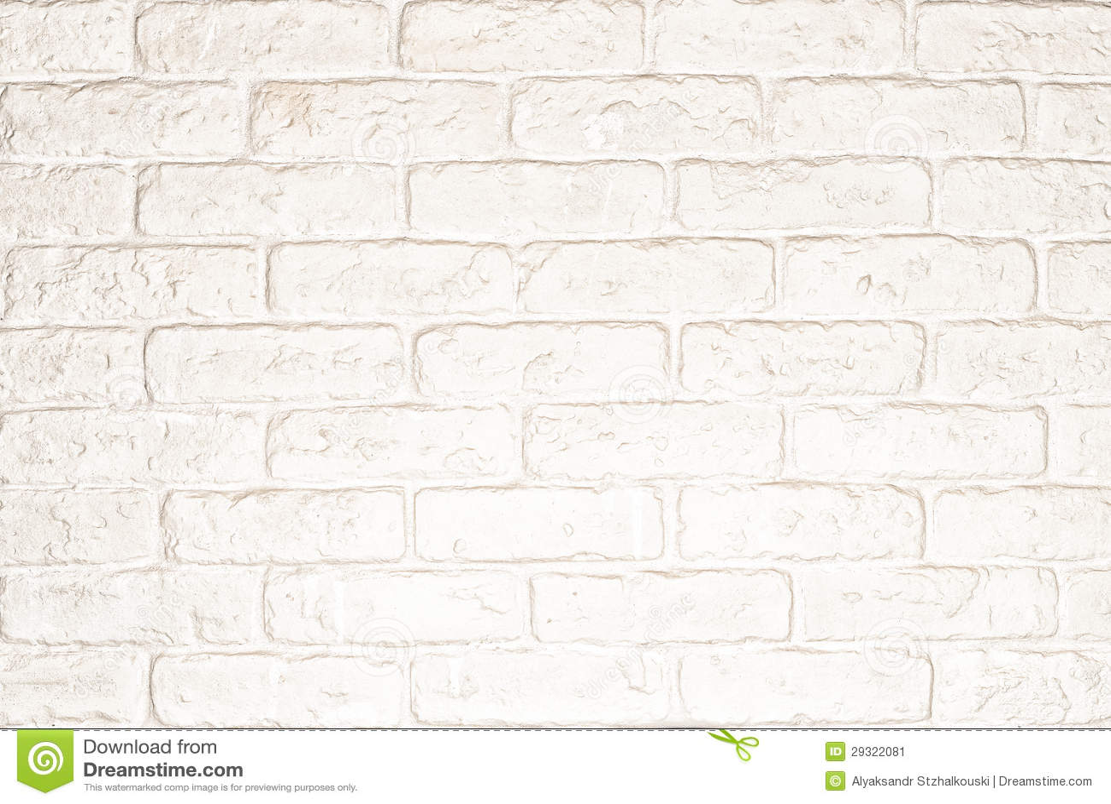 White Brick Wall Stock Image Image 29322081