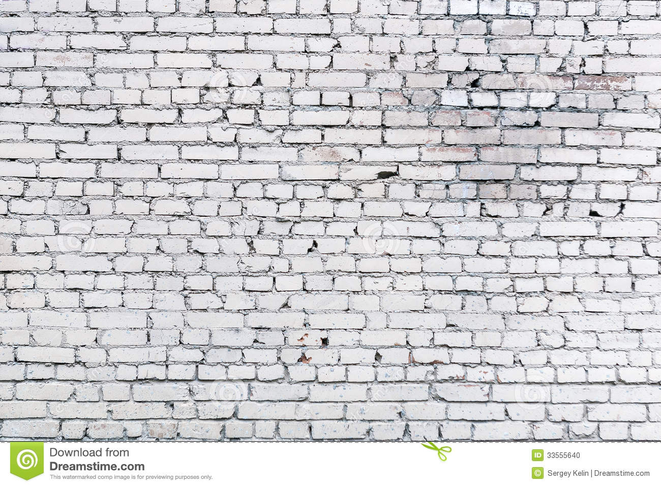 White Brick Wall Background Stock Photo Image 33555640