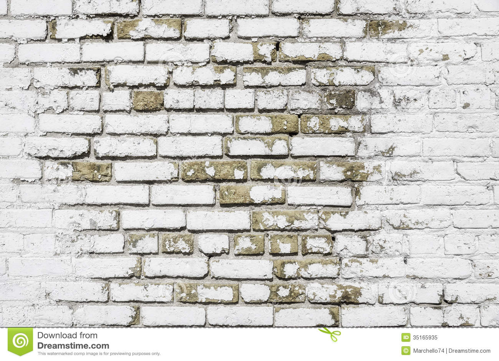 White Brick Wall Background Royalty Free Stock Photo