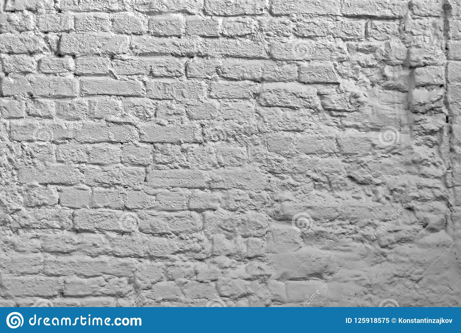 White Brick Wall Background Whitewash Brick Texture White
