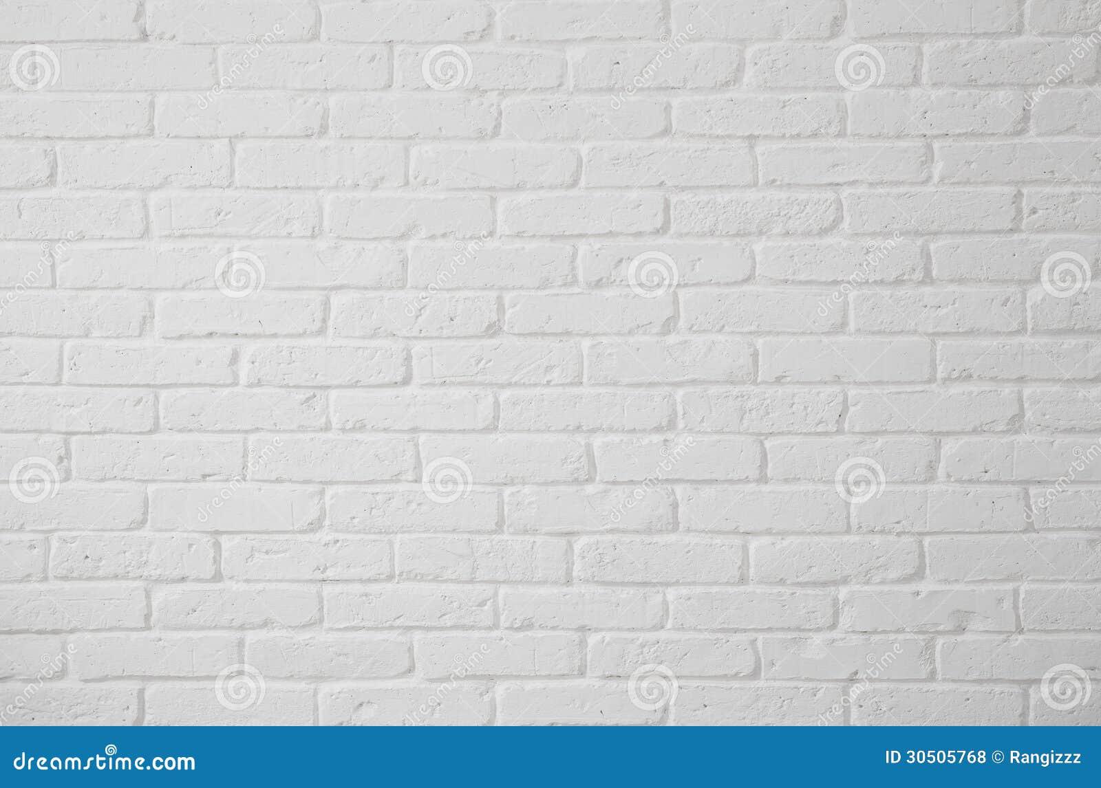 Blank White Brick Wall